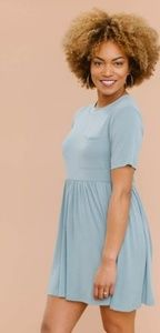 Light Blue Babydoll Dress By A&D